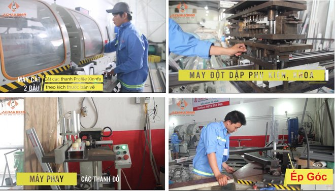 Quy trình sản xuất cửa nhôm xingfa chính hãng tại Á Châu Door